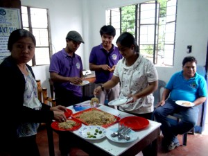 Sharing a meal together- Once a group of strangers, the Area Coordinating Team of Langiden, Abra has now turned into a family who works together for the development of the people in the said municipality.