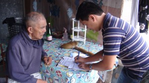 NHTU staff assesses a social pensioner not yet included in the Listahanan database.