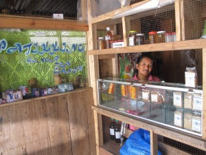 Manang Ligaya continues to develop her products to ensure their marketability. During the visit, most of her products have already been sold and only few were left in the store.