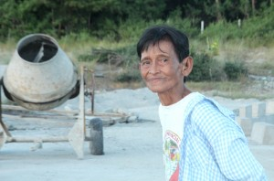 At the age of 73, Illuminada Aveňo is physically strong walking the steep terrain of the community to monitor the sub-projects.