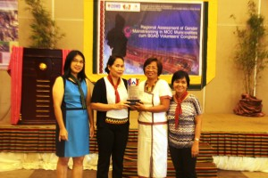 DSWD officials with one of awardees from Barangay Luba